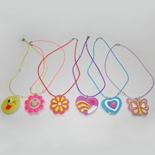 Plastic flashlight kids necklace
