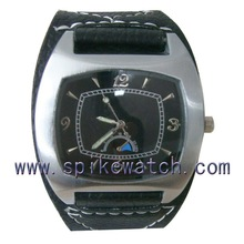 Export OEM metal case and leather band watch quartz water resist 5 bar