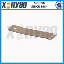 Flat zinc plated electrical spring contact