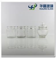 High quality different shape 300ml 10oz engraved glass jar for jam candy with sealed glass lid wholesale