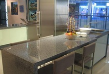 Beautiful granite solid surface countertop