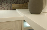 lg hi-macs solid surface, magic stone, man made stone countertops