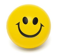 Cheap Smile face PU anti stress ball