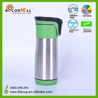2015 Wholesale Typical Double Wall Stainless Steel Coffee Thermos with Unique Cap that can be Used in ONE Hand