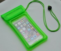 Custom cell phone, psps, mp3 PVC Waterproof bag holder with logo for camping, boating