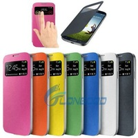 Smart Pocket Caller ID & Sleep / Wake-up Function Flip Leather Case Cover for Samsung S IV i9500