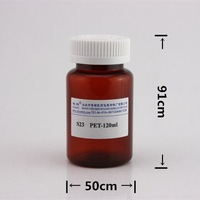 120ml PET bottle for tablets / child proof medicine container with label / plastic pharmaceutical soild bottle