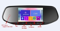The first version multifunctional android mirror gps navigation, car dvr, suppoert 3G, wifi, bt, dual camera 2M+5M