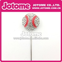 Tennis Ball Pen Rhinestone Cake Topper Sticks For Decor Wedding