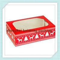 China supply uv printed decorative christmas cake boxes