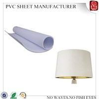 lamp cover pvc sheet/lampshade pvc film/lampshade material manufacturer