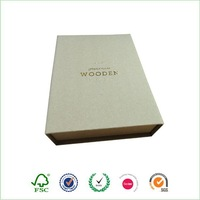 Brown kraft hinged cardboard paper gift box