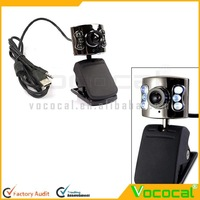 6 LED High Definition Free Driver USB Webcam Laptop PC Computer Camera w/ Microphone
