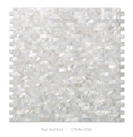 10mm*20mm White Brick Mother Of Pearl Shell Mosaic Tile