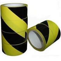 free sample130mic yellow and black colorful PVC underground detectable warning tape