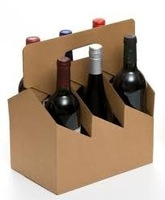 Corrugated Cardboard 6 Pack 750ml Wine Bottle Carrier