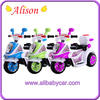 Alison T06602 2014 hot rechargeable battery ride on MP3 moto tricycle