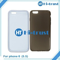 factory Wholesale Transparent Ultra thin TPU soft protect case for iphone 6 plus 6+