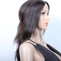 14 inch Can be dyed or bleached Indian natural straight Human Hair Wig Natural Color Wholesale Price
