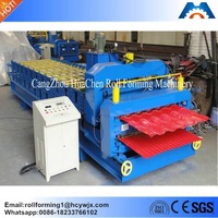 Color steel stone coated roof tile making machinery