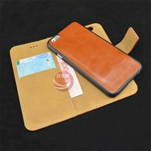 2 in 1 Removable for iphone 6 leather wallet case