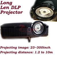 long lens DLP projector with 3000 lumens 1024*768P Native Resolution Supprt 1920*1080p FHD with EPSON Lamp by salange projector