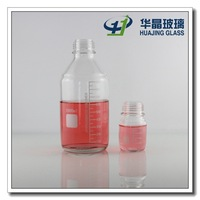 High quality 100ml 1000ml laboratory reagent glass bottle with scale wholesale