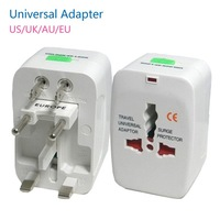 SALE!! All in One Universal International Plug Adapter 2 USB Port World Travel AC Power Charger Adaptor with AU US UK EU Plug