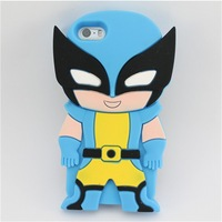 cartoon phone case for iphone 5/5s,silicone robot case