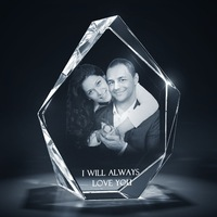 3D Laser Small Prestige Shape Crystal Photo engraving cube MH-TF078