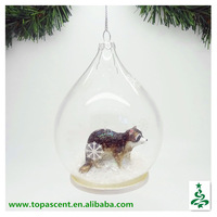 2015 animated handblown decorative glass dome ornaments wholesales from direct factory in China