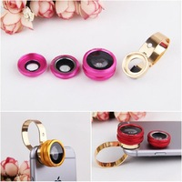New product 2nd generation 3 in 1 Universal mobile phone lens,180 degree fish eye +0.67X Wide Angle+macro lens,with metal clip