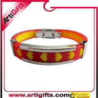 Factory supply low price alloy zinc metal charm wristband