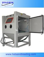 Dry suction type Manual Electric sandblasting machine with table 1212TA