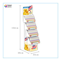 PFD-1065 Ladder shape display paper stand for food