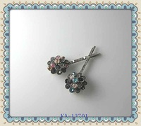 Silver ox crystal bobby pins decorative hair pins