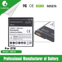 mobile phone battery for ZTE battery N9510 2500mAh 3.8V dropship products battery
