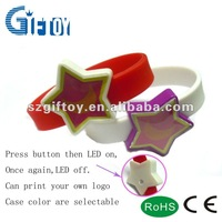 Bulk Cheap Silicone Wristbands With Led Lights
