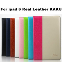 Hot Sale! Dynamic Contrast Color For Ipad Air 2 Leather Case ,Genuine Leather For Ipad Air 2 Smart Case