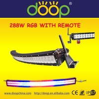 50'' 288W RGB LED Light Bar off road flash light with romote,c ree off road led bar