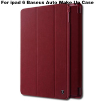 Wholesale Brand Baseus Leather Smart Cover Case with Stand For ipad 6 Air 2 with Retail Package 10PCS Freeshipping