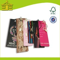 China Products Labels/Embossed Paper Hangtags Manufacturer/ recycled Plastic bag tag