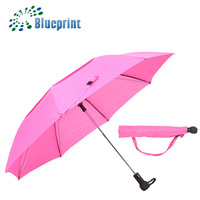 Windproof Colors Auto Gift 2 Folding Umbrella Twin Canopy With Holes