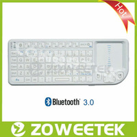 Russian Version Bluetooth 3.0 Wireless White Keyboard with touchpad for tv
