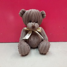 20cm wholesale lovely brown teddy bear toy with butterfly knot