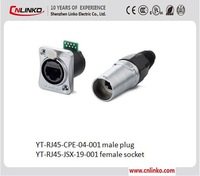 Pull/Push Electrical Network Rj45 Cat5e Connectors With Metal Shell