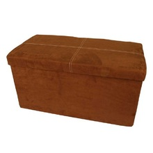 Micro suede leather ottoman footstool,folding footstool ottoman