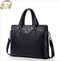 Cheap Men's Leather Bags Laptop Briefcase for 15.6'' Conference Bags