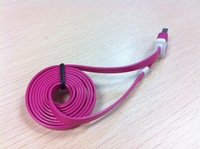 Super durable flat usb cable making equipment for iphone 6 for iphone5s/5 1m(2m/3m/5m)