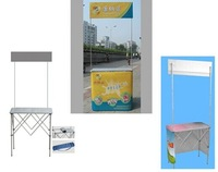 Knocked-Down Structure Foldable Aluminum promotion table